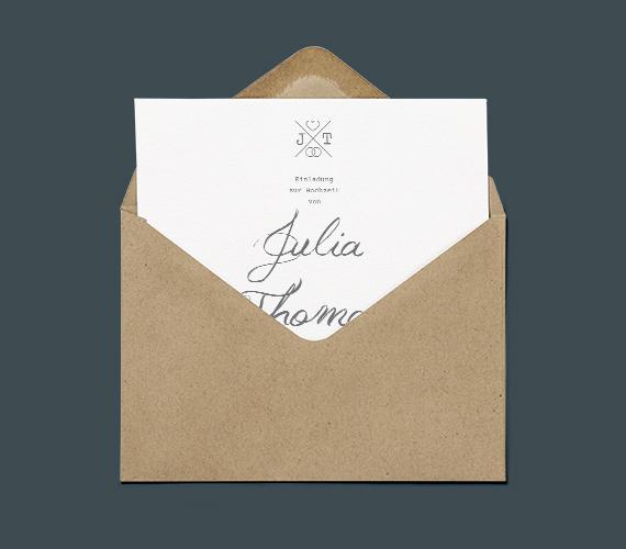 minimal wedding invitation