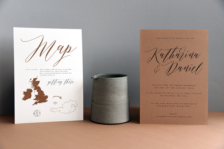 Handcrafted Wedding Invitation, cards & signage