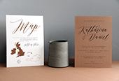 Handcrafted Wedding Invitation, cards & signage